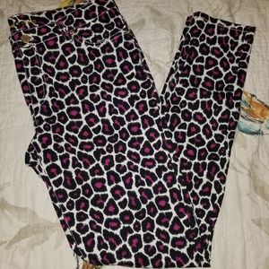 Michael Kors skinny animal print pants NWOT